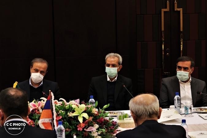 گزارش تصویری دیدار وزیر اقتصاد ارمنستان با وزیر صمت و رئیس اتاق تعاون ایران